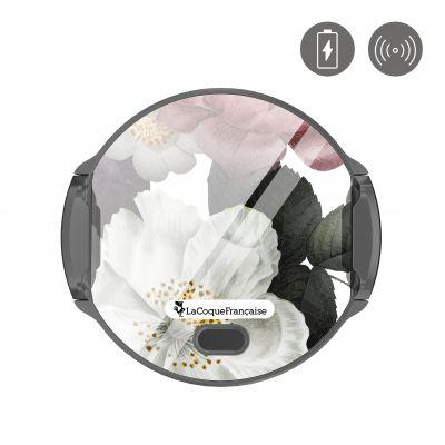 Support voiture charge induction-ouverture auto Fleurs roses La Coque Francaise