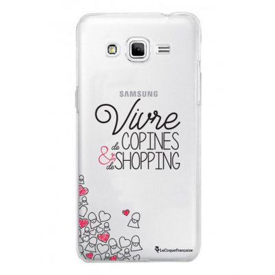 Coque rigide transparent Vivre de copines et de shopping pour Samsung Galaxy Grand Prime