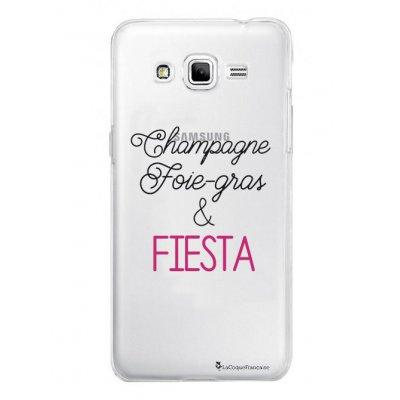 Coque rigide transparent Champagne Foie gras et Fiesta pour Samsung Galaxy Grand Prime