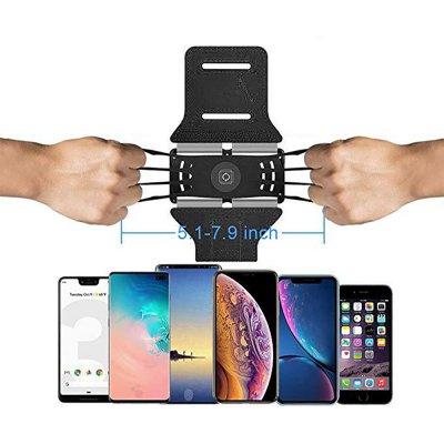 Brassard de sport noir pour smartphone avec rotation 180° -Noir
