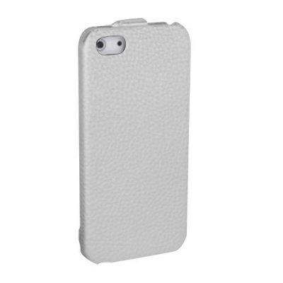 Etui clapet Simili Cuir Blanc iPhone 5