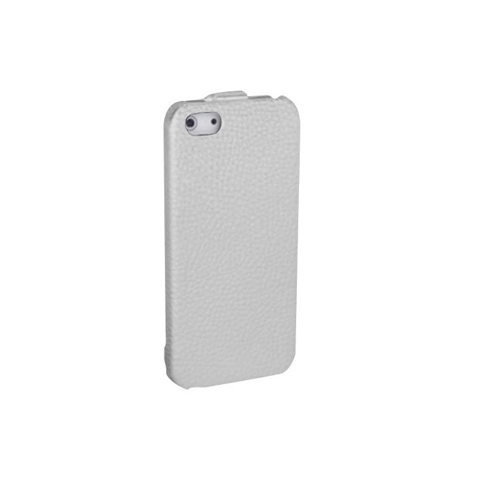 Etui clapet Simili Cuir Blanc iPhone 5