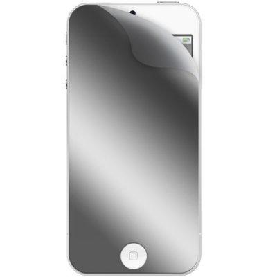 Lot de 2 films protecteurs ecran : 1 effet miroir et 1 transparent One touch pour iPhone 5