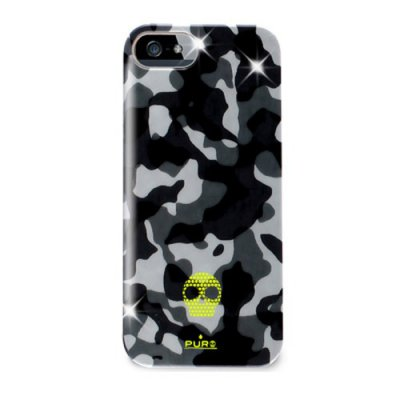 Coque Arriere Licence PURO Compatible iPhone 5 Army Noire
