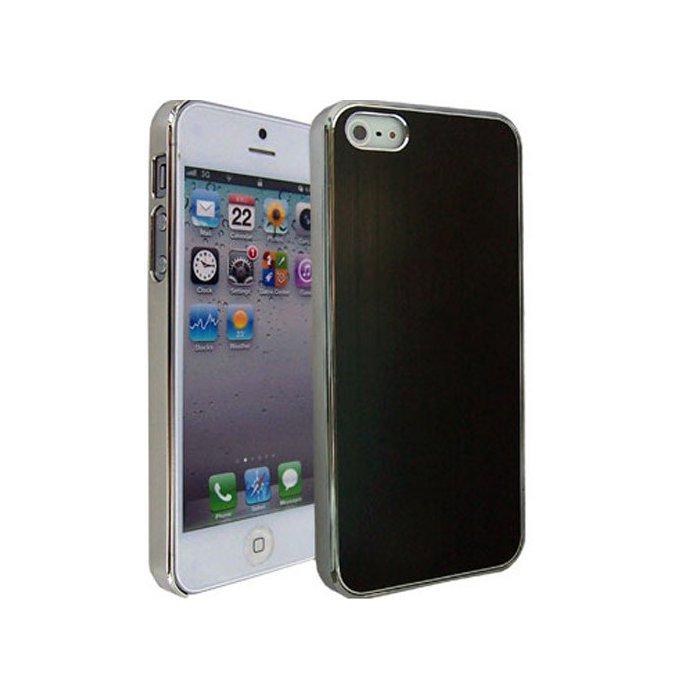 coque aspect chrome et aluminium mat noir iphone 5 5s