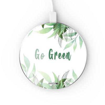 Chargeur Induction contour argent blanc Go green Evetane
