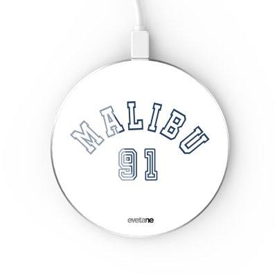 Chargeur Induction contour argent blanc Malibu 91 Evetane