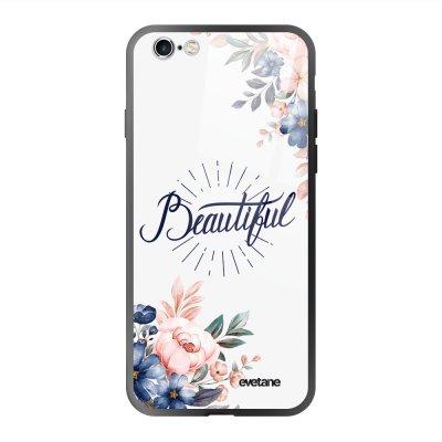 Coque en verre trempé iPhone 6 Plus / 6S Plus Beautiful Ecriture Tendance et Design Evetane.
