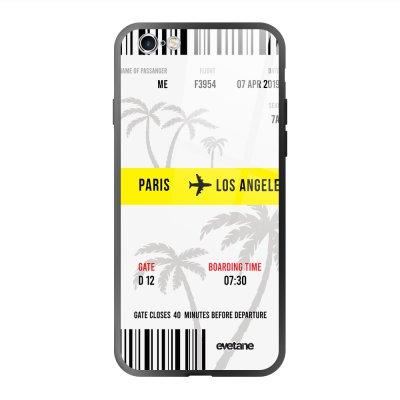 Coque en verre trempé iPhone 6 Plus / 6S Plus Blllet Paris-Los Angeles Ecriture Tendance et Design Evetane.