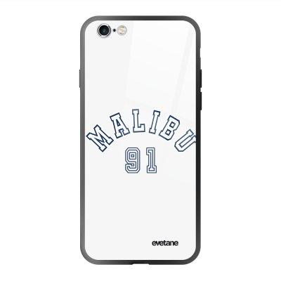 Coque en verre trempé iPhone 6 Plus / 6S Plus Malibu 91 Ecriture Tendance et Design Evetane.
