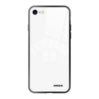 Coque en verre trempé iPhone 7/8/ iPhone SE 2020 New York 23 Ecriture Tendance et Design Evetane.