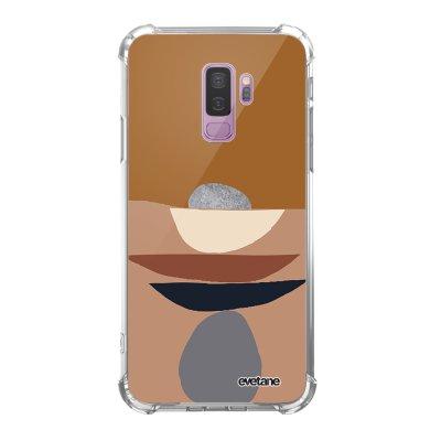 Coque Samsung Galaxy S9 Plus anti-choc souple angles renforcés transparente Déco de pierres Evetane.