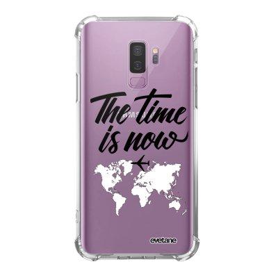 Coque Samsung Galaxy S9 Plus anti-choc souple angles renforcés transparente The time is Now Evetane.