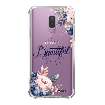 Coque Samsung Galaxy S9 Plus anti-choc souple angles renforcés transparente Beautiful Evetane.