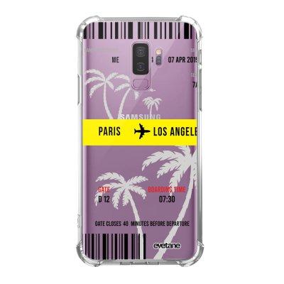Coque Samsung Galaxy S9 Plus anti-choc souple angles renforcés transparente Blllet Paris-Los Angeles Evetane.