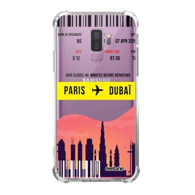 Coque Samsung Galaxy S9 Plus anti-choc souple angles renforcés transparente Blllet Paris-Dubaî Evetane.