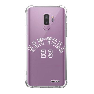 Coque Samsung Galaxy S9 Plus anti-choc souple angles renforcés transparente New York 23 Evetane.