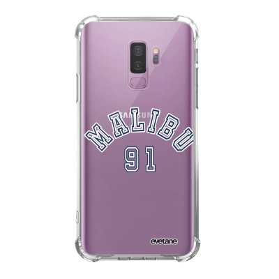 Coque Samsung Galaxy S9 Plus anti-choc souple angles renforcés transparente Malibu 91 Evetane.