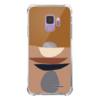 Coque Samsung Galaxy S9 anti-choc souple angles renforcés transparente Déco de pierres Evetane.