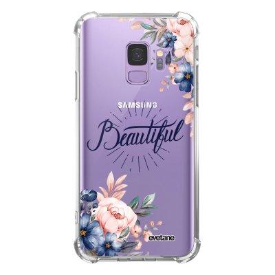 Coque Samsung Galaxy S9 anti-choc souple angles renforcés transparente Beautiful Evetane.