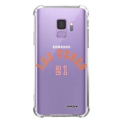 Coque Samsung Galaxy S9 anti-choc souple angles renforcés transparente Las Vegas 21 Evetane.