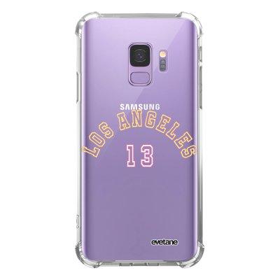 Coque Samsung Galaxy S9 anti-choc souple angles renforcés transparente Los Angeles 13 Evetane.