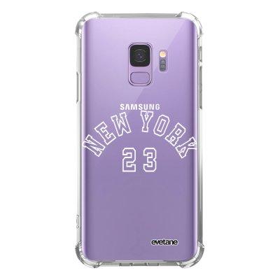 Coque Samsung Galaxy S9 anti-choc souple angles renforcés transparente New York 23 Evetane.