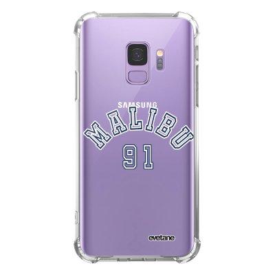 Coque Samsung Galaxy S9 anti-choc souple angles renforcés transparente Malibu 91 Evetane.