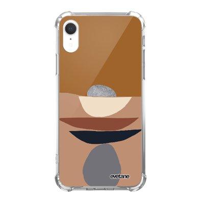 Coque iPhone Xr anti-choc souple angles renforcés Déco de pierres Evetane.