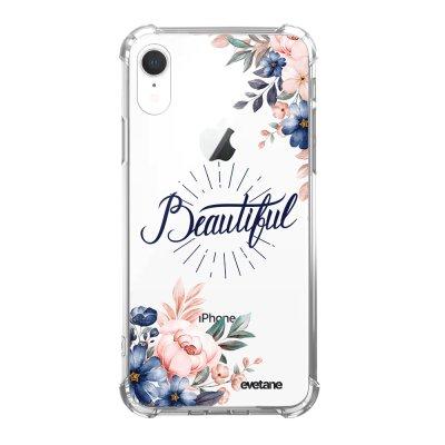 Coque iPhone Xr anti-choc souple angles renforcés Beautiful Evetane.