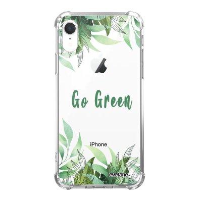 Coque iPhone Xr anti-choc souple angles renforcés Go green Evetane.
