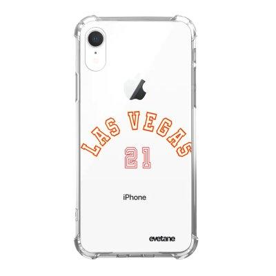 Coque iPhone Xr anti-choc souple angles renforcés Las Vegas 21 Evetane.