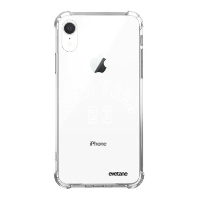 Coque iPhone Xr anti-choc souple angles renforcés New York 23 Evetane.