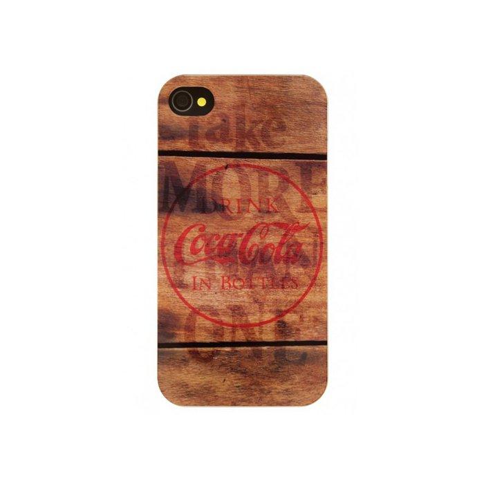 coque coca cola coke wood iphone 4 4s