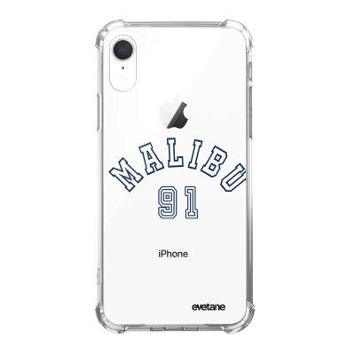 Coque iPhone Xr anti-choc souple angles renforcés Malibu 91 Evetane.