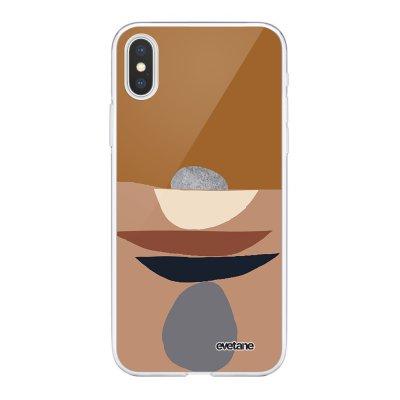 Coque iPhone X/Xs 360 intégrale Déco de pierres Tendance Evetane