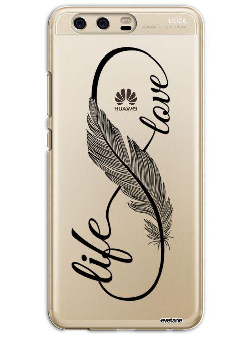 Coque Huawei P10 rigide transparente Love Life Dessin Evetane - Coquediscount