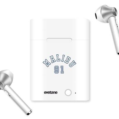 Ecouteurs Sans Fil Bluetooth Argent argent Malibu 91 Ecriture Tendance et Design Evetane.