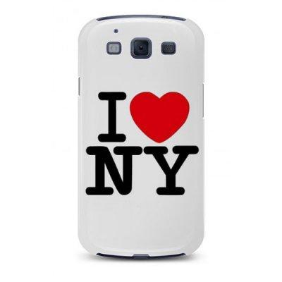 Coque rigide blanche i love NY Samsung galaxy S 3