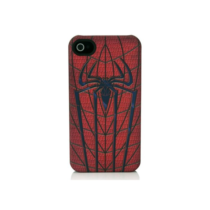 coque collector iphone 4 et 4s marvel blason spiderman rouge