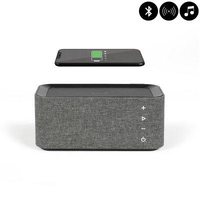 Enceinte Bluetooth avec chargeur à induction charge rapide - Grise