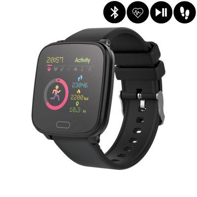 Montre connectée Bluetooth Enfant avec contrôle de la musique,distance parcourue,moniteur fréquence cardiaque - Noir