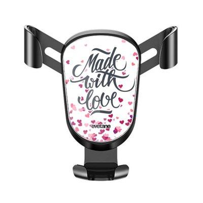 Support téléphone voiture Made with love Motif Ecriture Tendance Evetane