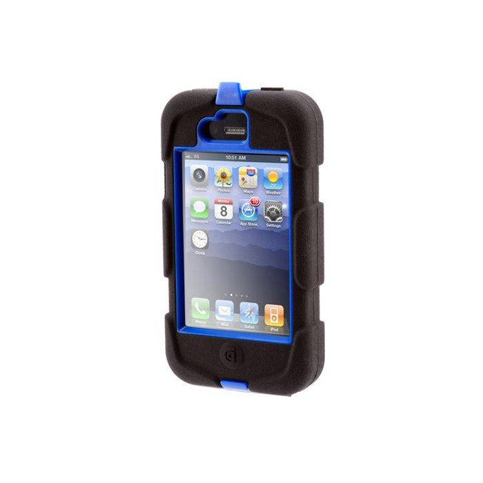 coque survivor griffin iphone 5 5s ultra resistante noire et bleu