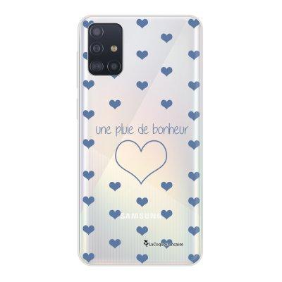 Coque Samsung Galaxy A51 5G souple transparente Pluie de Bonheur Lilas Motif Ecriture Tendance La Coque Francaise..