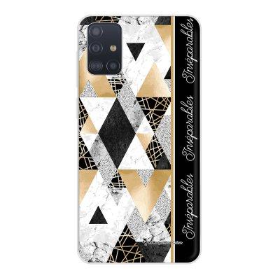 Coque Samsung Galaxy A51 5G souple transparente Marbre Noir Inséparables Motif Ecriture Tendance La Coque Francaise..