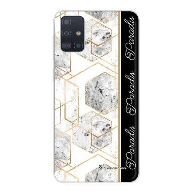 Coque Samsung Galaxy A51 5G souple transparente Marbre Noir Paradis Motif Ecriture Tendance La Coque Francaise..