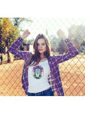T-shirt Lion Pastelle pour Taille L