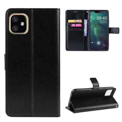 Etui Coque iPhone 11 Noir, Protection Housse Portefeuille Livre Emplacement cartes , support dépliant et Languette Magnétique
