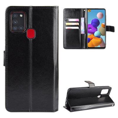 Etui Coque Samsung Galaxy A21S Protection Housse Portefeuille Livre Emplacement cartes , support dépliant Languette Magnétique